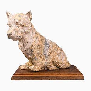 Décoratif Edward Highland Terrier Terrier Antique, Angleterre, 1910s