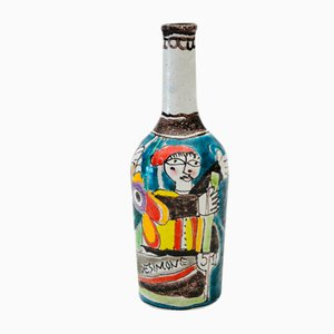 Italian Ceramic Bottle by De Simone, 1950