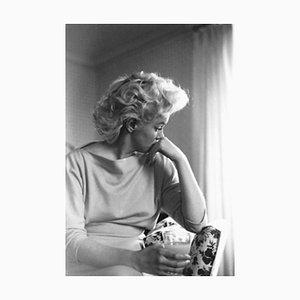 Marilyn Candid Moment Silver Gelatin Resin Print, Framed in Black by Ed Feingersh for Galerie Prints