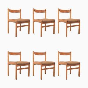 Teak Esszimmerstühle von HW Klein für Bramin, 6er Set