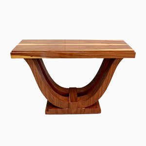 Art Deco Console Table in Island Wood, Early 20th Century
