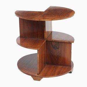 Art Deco Walnut Bookcase Table