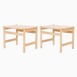 No. 40 Tables in Solid Oak by Hans J. Wegner for PP Møbler, Set of 2