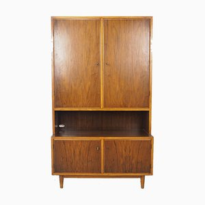 Danish High Cabinet with Doors and Lower Record Compartment, 1960s