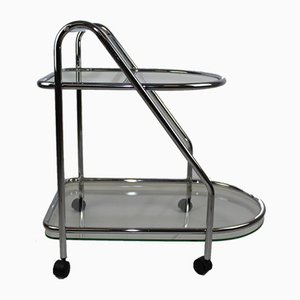 Chrome & Glass Serving Trolley, 1970s