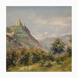 Landschaft, signiert und datiert, 1948