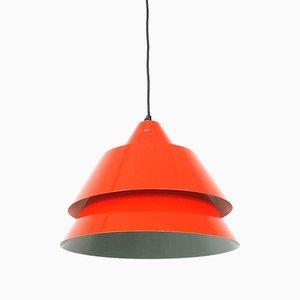 Red Zone Hanging Lamp by Jo Hammerborg for Fog & Mørup, 1960s