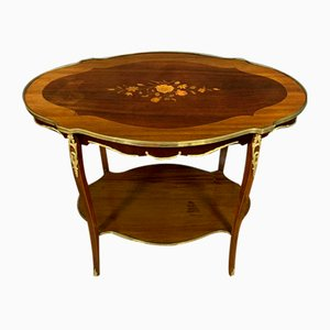 Napoleon III Ceremonial Table in Rosewood, Mahogany and Satinwood