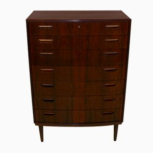 Tallboy Chest of Drawers in Rosewood, Denmark, 1960s