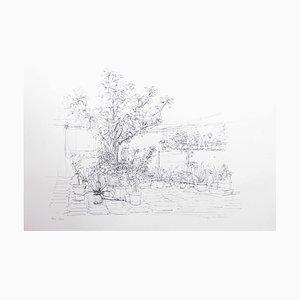 Jardin Sud, Lithograph by Jurg Keller