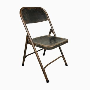 Vintage Metal Folding Chair, Italy, 1960s