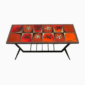Table Basse en Lave Émaillée par Jean Jaffeux, 1960s