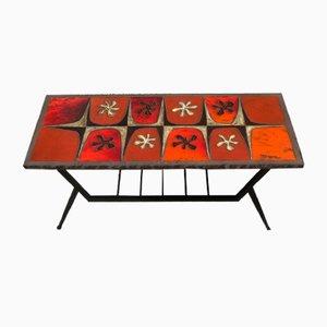 Tavolino da caffè in lava smaltata di Jean Jaffeux, anni '60
