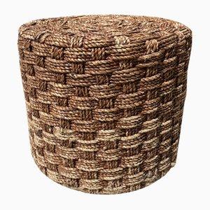 Pouf in Braided Cord, 1970s