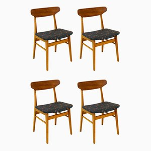 Chairs in Teak, Denmark, 1960s, Set of 4