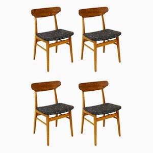 Stühle aus Teak, Dänemark, 1960er, 4er Set
