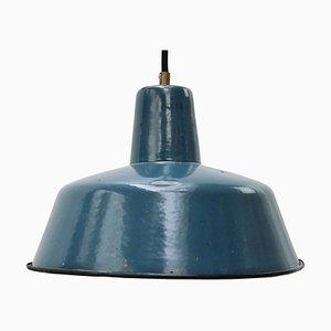 Industrielle Blaue Vintage Emaille Hängelampe