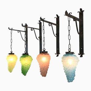 Wandlampen aus Traubenbündel, 4er Set
