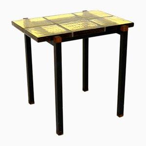 Side Table in Glass and Teak, Sweden, 1960s