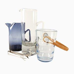 Dänische Vintage Glaswaren von Holmegaard, 1960er, 3er Set