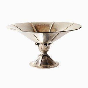 Dänische Jugendstil Schale aus Silber, 1920er