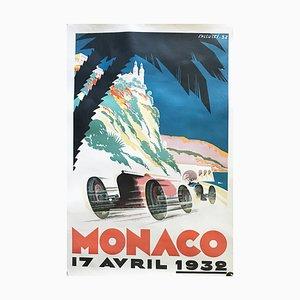 Grand Prix Monaco Poster, 17th April 1932