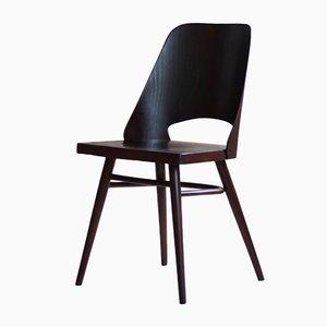 Model 514 Dining Chairs in Beech Veneer by Radomir Hofman for TON, Set of 4