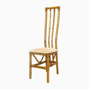 Sedie in bambù, anni '70, set di 4