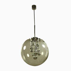 Large Vintage Glass Ball Planet Pendant Lamp from Doria Leuchten, 1960s or 1970s