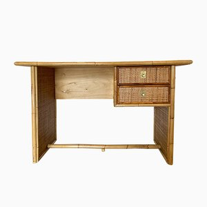 Desk in Bamboo and Rattan from Dal Vera, 1970s
