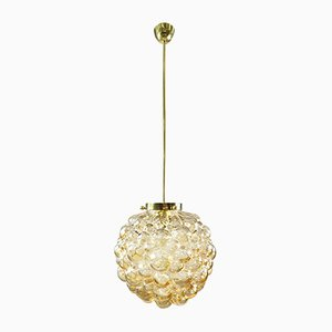 Amber Bubble Glass Ball Lamp by Helena Tynell for Limburg