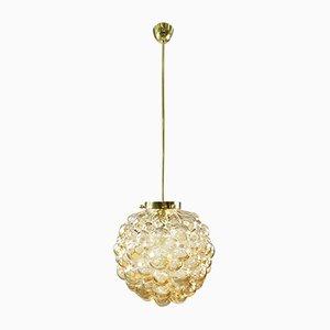 Bernsteingelbe Bubble Glaskugel Lampe von Helena Tynell für Limburg