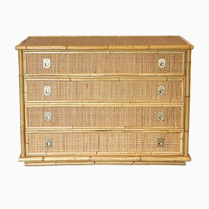 Chest of Drawers in Bamboo and Rattan from Dal Vera, 1970s