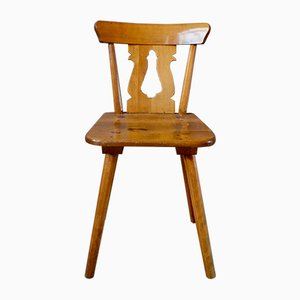 Rustic Set of 5 Chairs & 2 Armchairs, 1940s, Set of 7