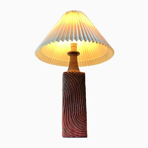 Large Scandinavian Stoneware Table Lamp from Ribe, 1970s