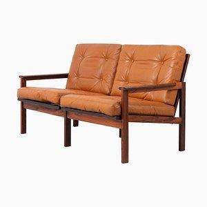 Scandinavian Modern Leather Capella Sofa by Illum Wikkelsø