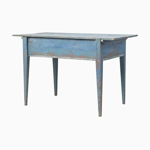 18th-Century Swedish Blue Gustavian Desk