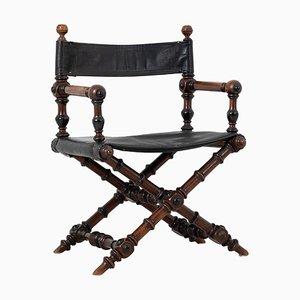 Antique Swedish Renaissance Revival Directors Chair