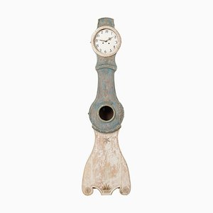 Swedish Rococo Blue Mora Clock