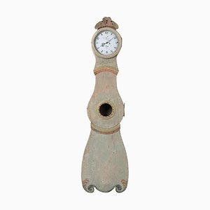 Swedish Rococo Pale Green Longcase Clock