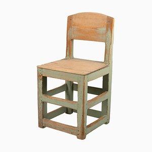Swedish Baroque Style Rustic Green Chair