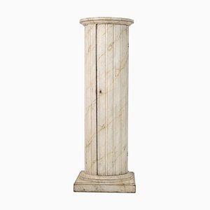 18th Century Swedish Gustavian Column Pedestal Cabinet