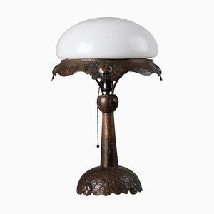 Swedish Art Nouveau Copper Table Lamp