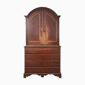 18th Century Swedish Red Rococo Cabinet