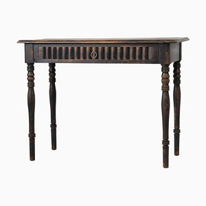 19th Century Swedish Black Pine Desk or Writing Table