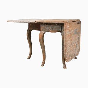 18th Century Swedish Rococo Drop-Leaf Table