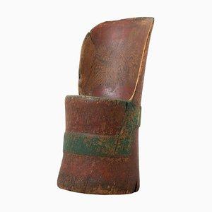 Antique Swedish Rustic Kubbestol Chair
