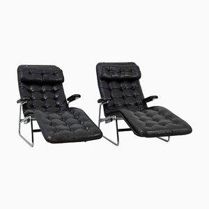 Scandinavian Fenix Lounge Chairs for Dux, Set of 2
