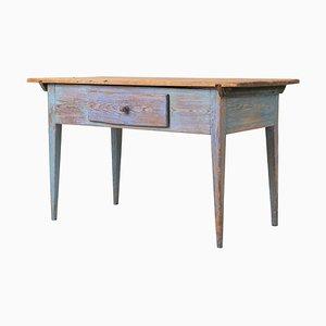 18th Century Swedish Blue Side Table