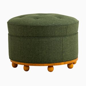 Swedish Grace Stool or Pouf, Early 20th Century